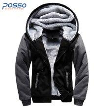 2017 Winter extra warm lässige herren fell kapuze jacke klassische pelz mantel mit kapuze für jugendliche männlich zip hoodie