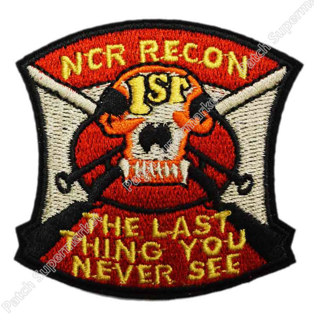 1ST RECON NCR BERET Movie TV Series Costume Cosplay Embroidered Emblem iron  on patch Baseball Cap Badge 50e6a54284a