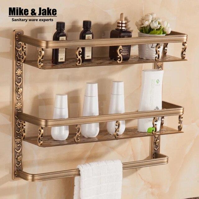 Bathroom shelf 40cm length antique aluminum bathroom corner shelf ...