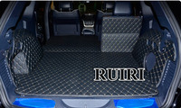 Good! Full set car trunk mats for Jeep Grand Cherokee wk2 2018 2010 waterproof cargo liner boot carpets for Grand Cherokee 2016
