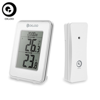 Digoo DG TH1980 Thermometer Digital Home Comfort LCD Indoor Outdoor Temperature Monitor Desk Clock
