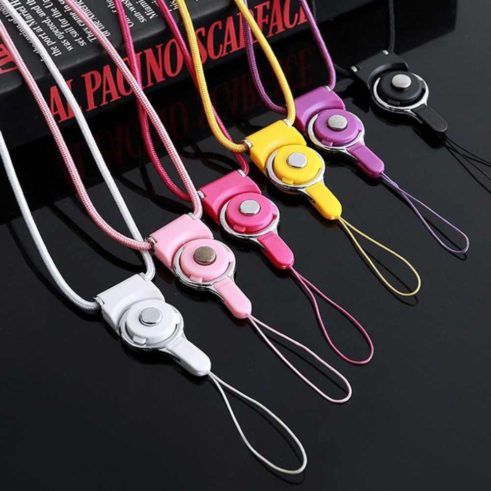Universal ABS Knitted Mobile Phone Hanging Rope Holder Sling Detachable Neck Strap Lanyard For Mp3 Mp4 Key Ring Buckle