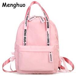Menghuo Большой Вместительный рюкзак для женщин, школьные сумки для подростков, женские нейлоновые дорожные сумки для девочек, рюкзак с бантом,...