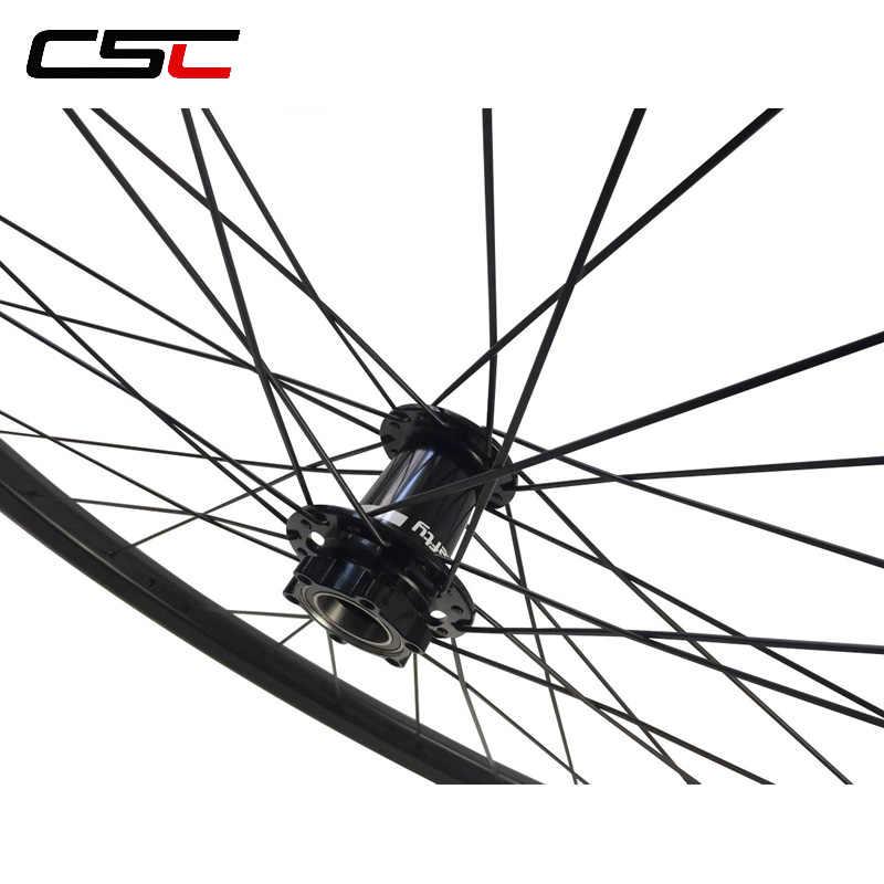 29er يفتي MTB XC الجبهة عجلات اليد اليسرى القرص محور 29 بوصة الجبلية الجبهة عجلة 28 ملليمتر ، 30 ملليمتر ، 40 ملليمتر العرض