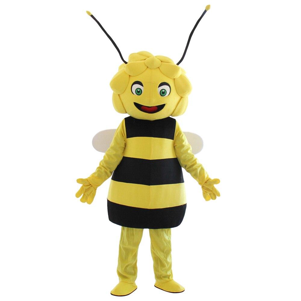 Maya the bee Mascot Costume yellow Bee mascot Adult Character Costume Cosplay for Halloween party