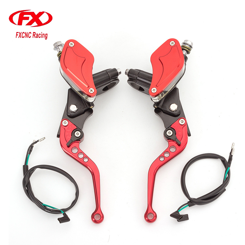 FX 7/8 Universal Adjustable Motorcycle Brake Clutch Lever Master Cylinder Reservoir For Honda Yamaha Kawasaki Suzuki 50CC-300CC left 1 25mm universal motorcycle brake clutch master cylinder hydraulic pump lever for suzuki yamaha kawasaki honda