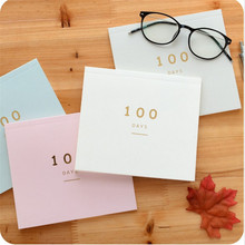 100 Days Planner Notebook One page four squares as home week plan diary study copy  Vocabulary Words office school supplies