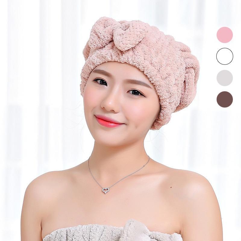 Elegant Practical Fashion Style Hot Selling 1pc Microfiber Bathing Quick Dry Hair Magic Drying Turban Wrap Towel Hat Cap