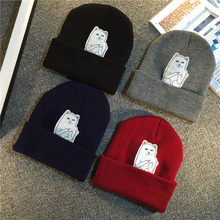 2017 New Fashion High Quality Soft Warm Cat Style LOGO Ripndip Hat