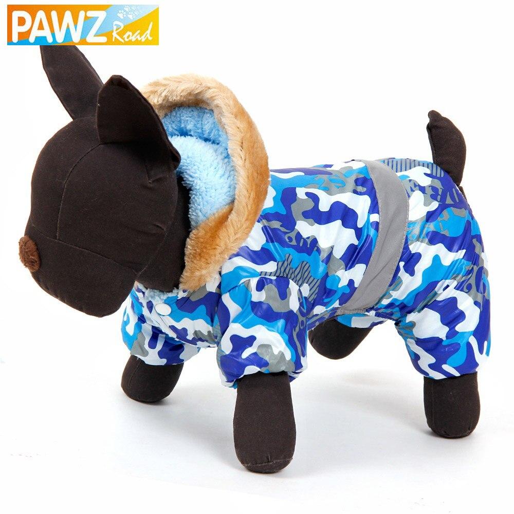 PAWZRoad Pet Dog Clothes Pet Winter Warm Clothing Jacket Reversible For Dog Coats Durable