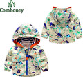 Baby Boys Hooded Jackets Infant Jackets For Girls Children Dinosaur Printed Outerwear Kids Windbreaker Spring Autumn Bebe Jacket