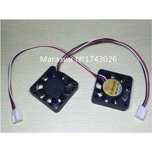 Pengiriman безвозмездно 5 шт./лот Небольшой вентилятор 4*4 СМ 4010 S компьютер/case/CPU/северный и Южный Мост вентилятор 3 провода с разъемом ic. ..