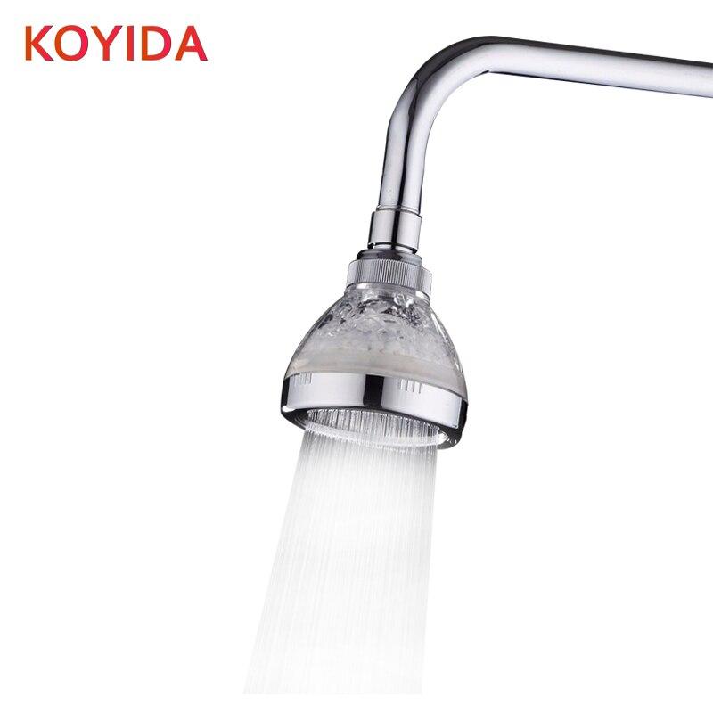 koyida ducha led shower head led temperature rain sensor color round abs chrome duchas de