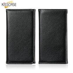KISSCASE Portefeuille Cas de Téléphone Pour iPhone 7 8 Plus En Cuir D'origine Cas de téléphone Pour Samsung S7 S6 Bord Cas Couverture capa Sac universel