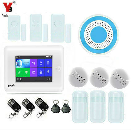 Yobang Security WIFI Smart Home Security GSM Alarm System 4.3\