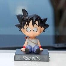 Juguete de decoración para salpicadero de coche Son Goku Monje, soporte para teléfono móvil, muñecos que sacuden la cabeza, adornos, accesorios de Interior