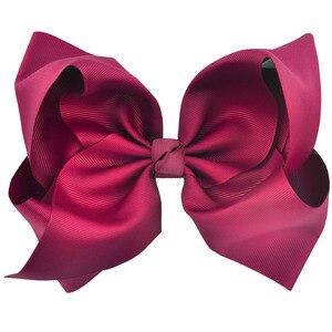 Image 4 - 8 inch 25pcs/20pcs/15pcs Big Large Grosgrain Ribbon Hair Bow Alligator Clips Bowknot Headwear Children Girls Hair Accessories