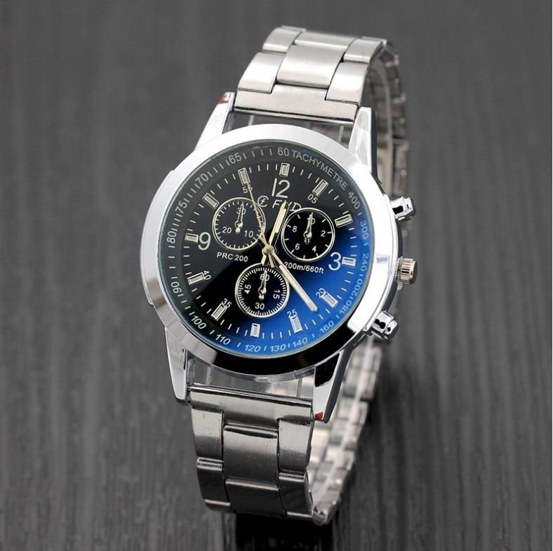 Для мужчин часы 30 м Водонепроницаемый Для мужчин S часы лучший бренд класса люкс Сталь часы хронограф мужской часы