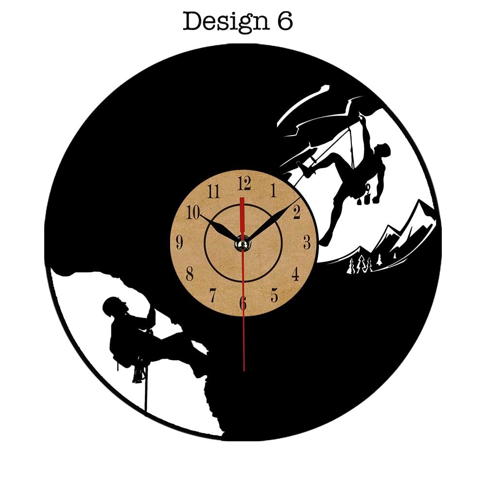 Wall Clock Art Design : Vinyl record wall clock modern design art cd