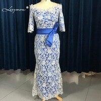Leeymon Plus Size Mother of Bride Dresses Elegant Mermaid 3/4 Sleeves Mother Of the Groom Dresses Vestido Mae Da Noiva M41