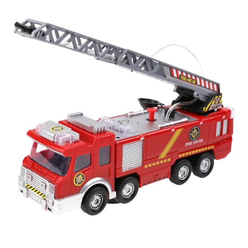 Electric Fire Truck Toy Water Spray Fire Engine Car Toy with Bright Lights Kids Early Educational Vehicle Toy Gift 6pcs water spray swim dolphin babies toy