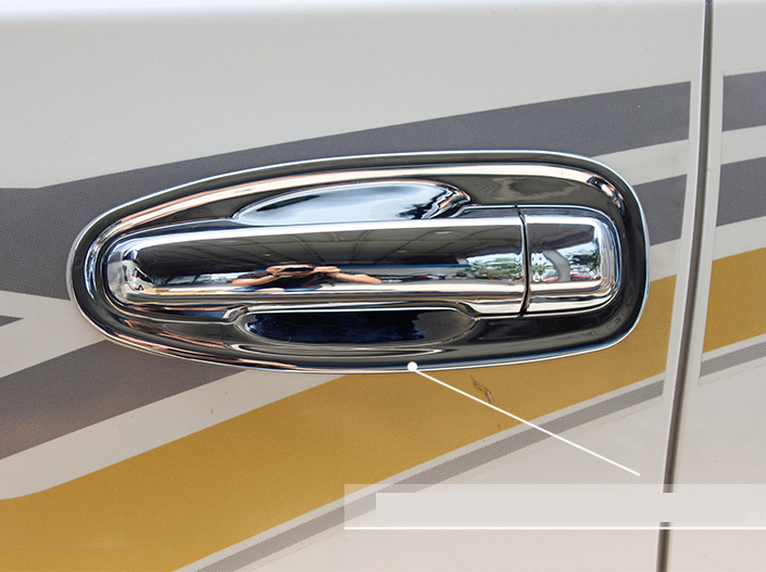 Chrome Door Handle Protect Cover Trim Fit For Toyota Prado J150 <font><b>F150</b></font> <font><b>Accessories</b></font> 2014 2015 2016 2017 2018 ABS Molding image