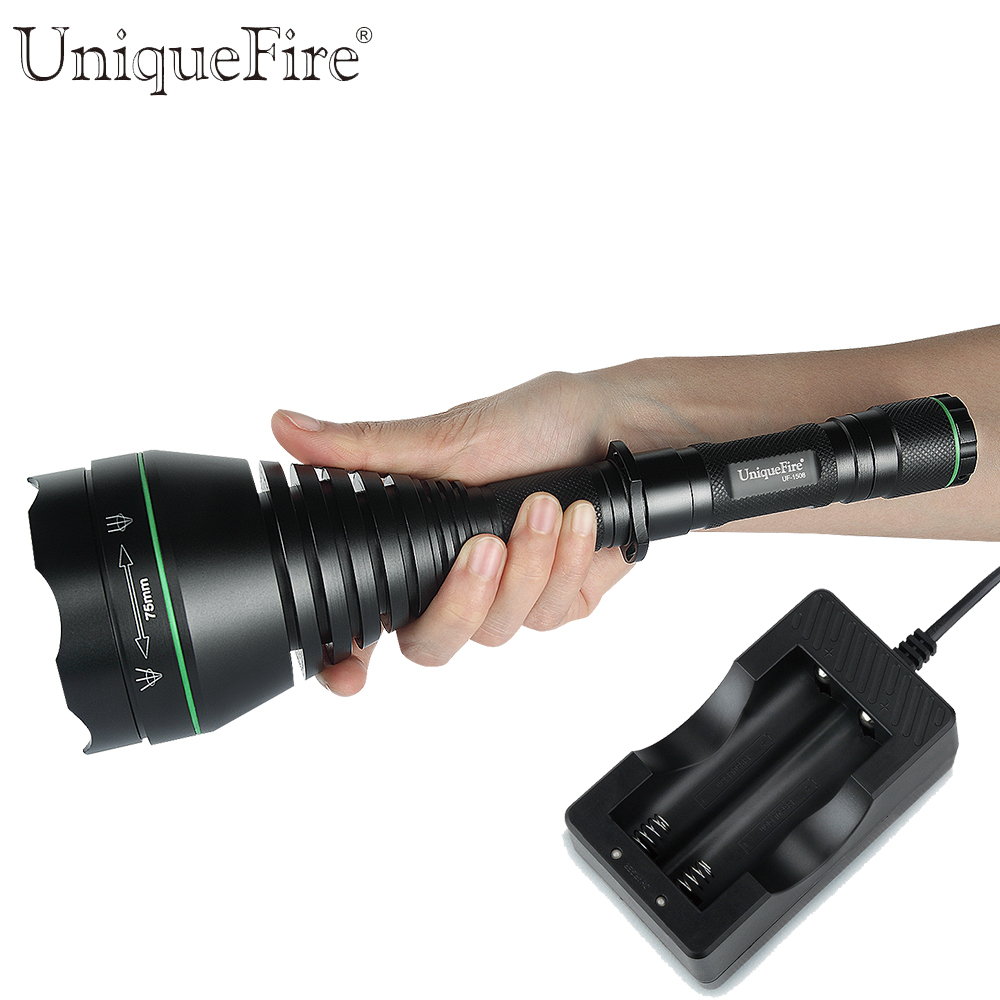 New Design UF1508-75mm IR 940nm LED Flashlight+Two-Slot Charger Invisible Light Factory Direct Energy Conservation For Hunting автоинструменты new design autocom cdp 2014 2 3in1 led ds150