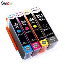 SHIZHI cartucho de Tinta Compatível Para HP 364 XL 364xl Photosmart 5520 5524 6510 6520 7510 B109 B110 B209 B210 C309 c310 C410 7510