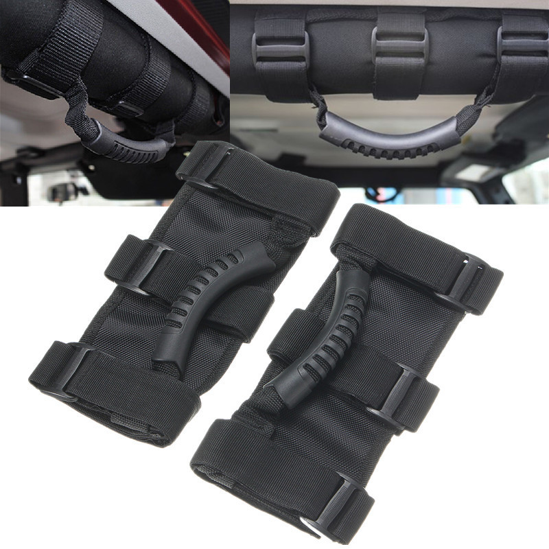2PCS Car Door Roll Bar Grab Handle Handles Safe for Jeep/Wrangler YJ TJ JK 1955-2016 Door Handles Accessories