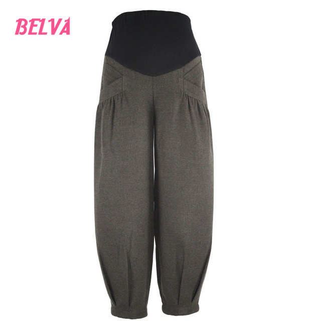 Belva 2017 Maternity Loose-fitting Bloomers Leisure Pants Plus Size care belly fashion pregnant pants pregnancy clothes 545
