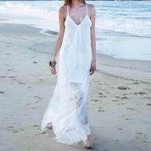 MUXU summer white lace dresses suspender dress long women clothing vestidos backless patchwork robe femme big size S-5XL kleider