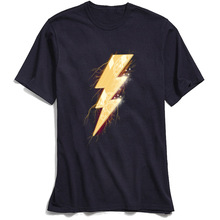 Punk Style Men T Shirt Night Of Thunder Black TShirt 100% Cotton Fabric O Neck Short Sleeve Tee Summer/Autumn Streetwear