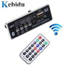 Kebidu Автомобильный USB Bluetooth Hands-free MP3 плеер встроенный MP3 декодер плата модуль с пультом дистанционного управления USB FM Aux радио для автомобиля