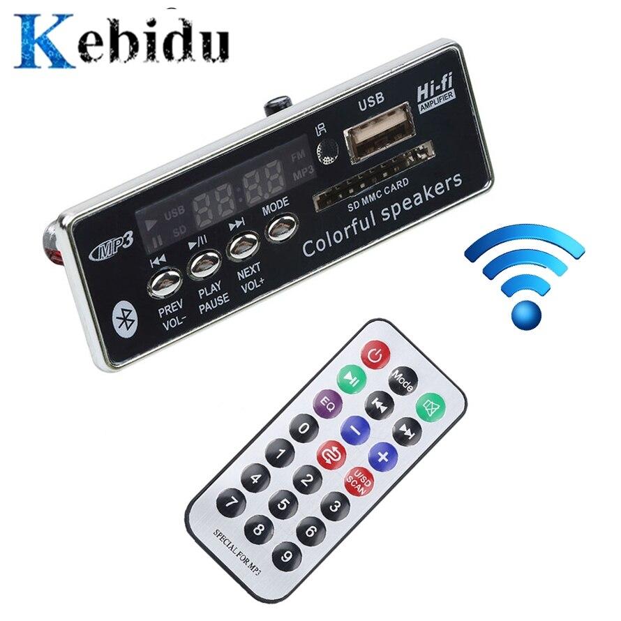 Kebidu Автомобильный USB Bluetooth Hands-free MP3 плеер интегрированный MP3 декодер плата модуль с дистанционным управлением USB FM Aux радио для автомобиля