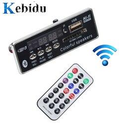 Kebidu carro usb bluetooth mãos-livres mp3 player integrado mp3 decodificador módulo de placa com controle remoto usb fm aux rádio para carro