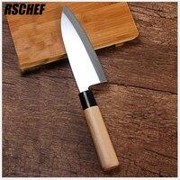 RSCHEF Japoński sushi sashimi nożem nóż nóż ze stali nierdzewnej do gotowania ryb długość ostrza 170mm