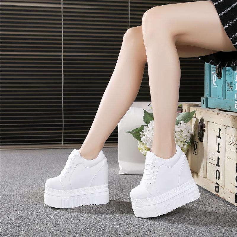 12 cm high heel Shoes Woman Vulcanize