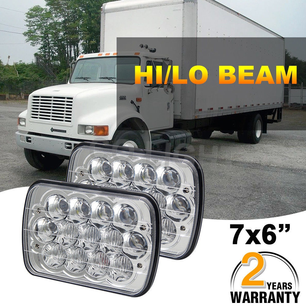 CO LIGHT Led Headlight High Low Beam 7*6'' 55W 12V 24V 3060lm 6500k IP68 30000h for 4X4 Cherokee XJ YJ 27450C/H6054/H6053/H6052 12v led light auto headlamp h1 h3 h7 9005 9004 9007 h4 h15 car led headlight bulb 30w high single dual beam white light