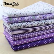 Booksew 50 см* 50 см 7 шт. Фиолетовый хлопок Ткань Жир четверть комплект telas лоскутное стеганое Ткань Тильда наборы для шитья