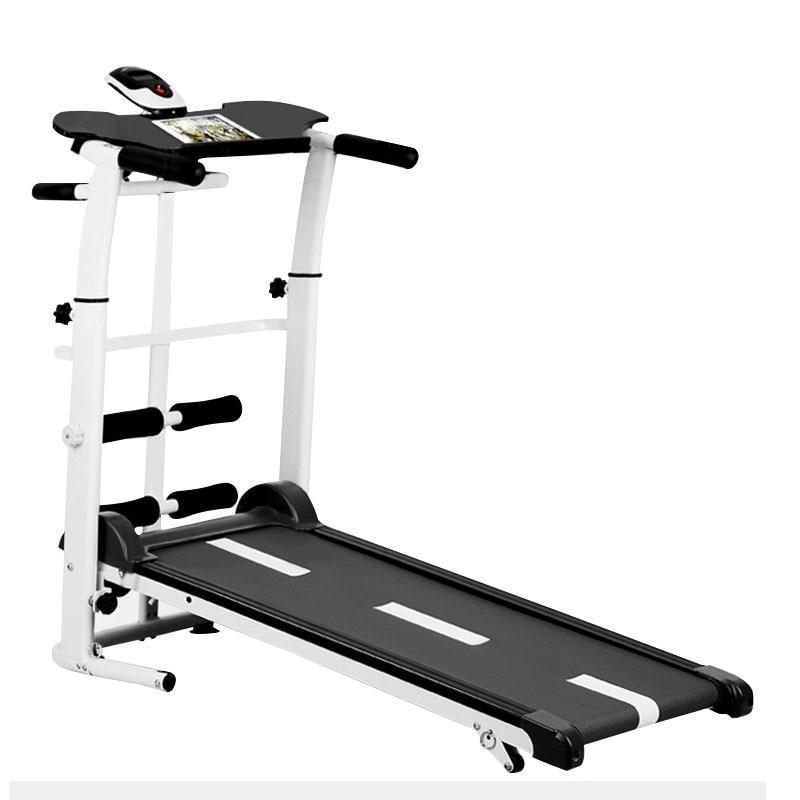 2019 new treadmill, folding mechanical treadmill, fitness treadmill, multi function silent fitness equipment treadmill with belt|Treadmills|   - AliExpress