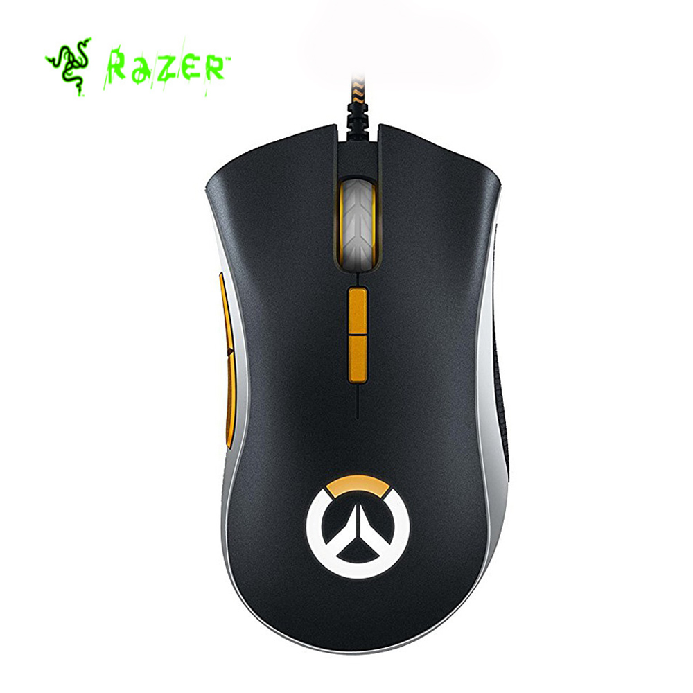Razer DeathAdder Elite Overwatch Edition 16000DPI Ergonomic Wired Gaming Mouse Chroma Enabled RGB Esports Gaming mouse et t6 wired gaming mouse black