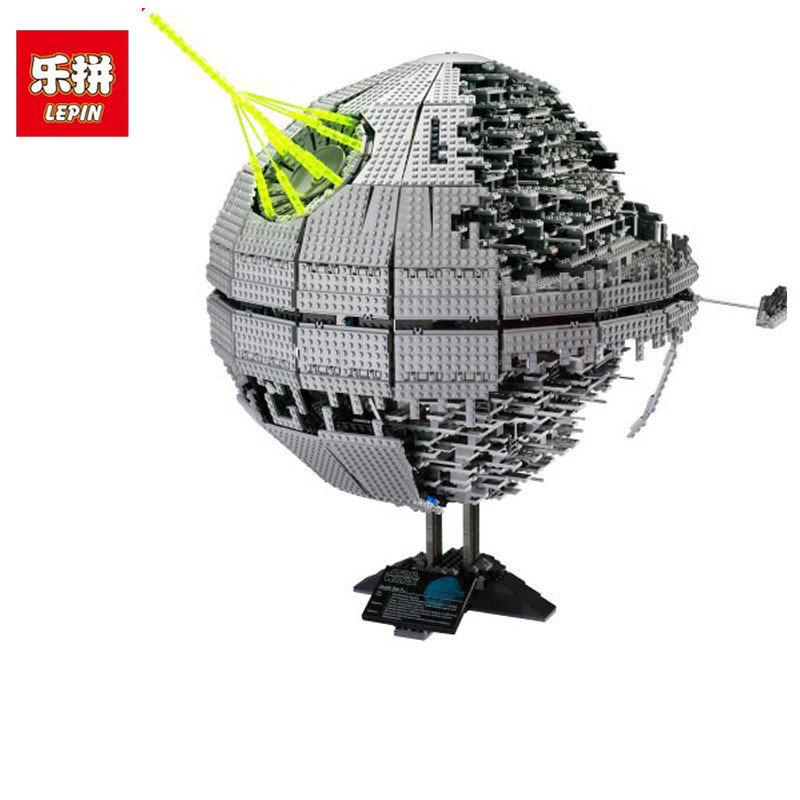 LEPIN 05026 3449Pcs Death Star Death Star II Model Wars Building Block Bricks Toys Kits Compatible with 10188 Children Gift lepin 22001 pirate ship imperial warships model building block briks toys gift 1717pcs compatible legoed 10210