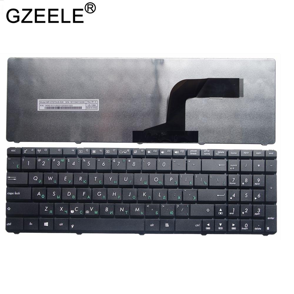 GZEELE RU Laptop Keyboard For Asus A54C-NB91 A54C-TB91 A54C-TS31 B53 B53E B53F B53J B53S A54C-TS91 K73e K73s Russian Black