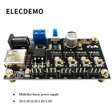 LM7805 multi-line power module 6~9V to 5V/3.3V/2.5V/1.8V/1.2V voltage output function demo board ups power expansion board with rtc measurement 5v output serial port function