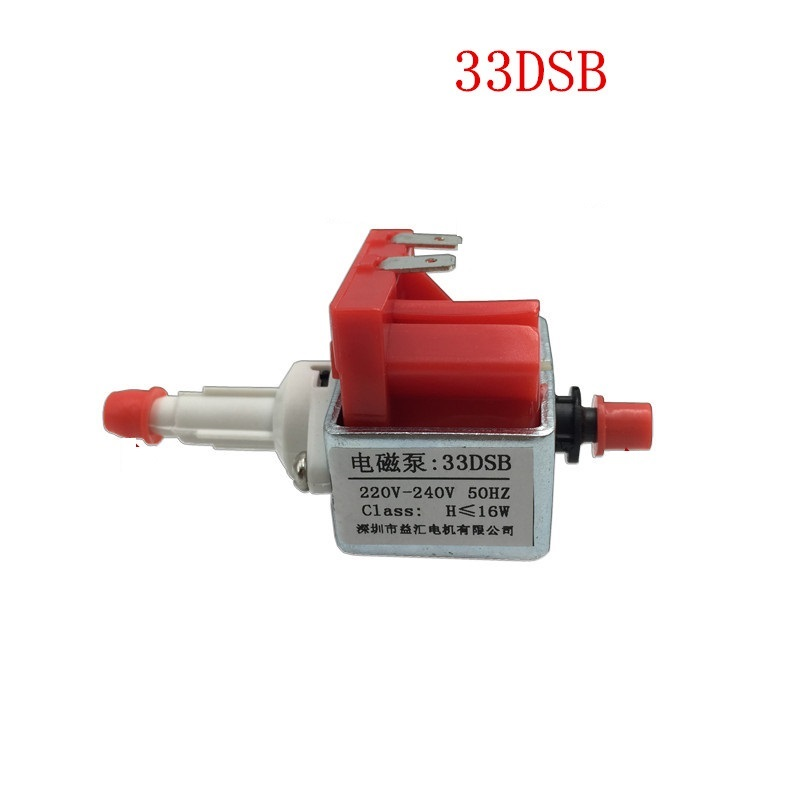 33DSB Electromagnetic Pump AC 220V-240V 16W Steam Iron Steam Mop Medical Water Pump Self- Priming Micro Magnetic Driving Pump