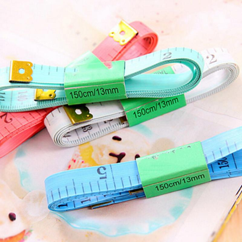 1PCS Body Measuring Ruler Sewing Tailor Tape Soft Flat 59 Inch Random Color 1.5 M Sewing Ruler