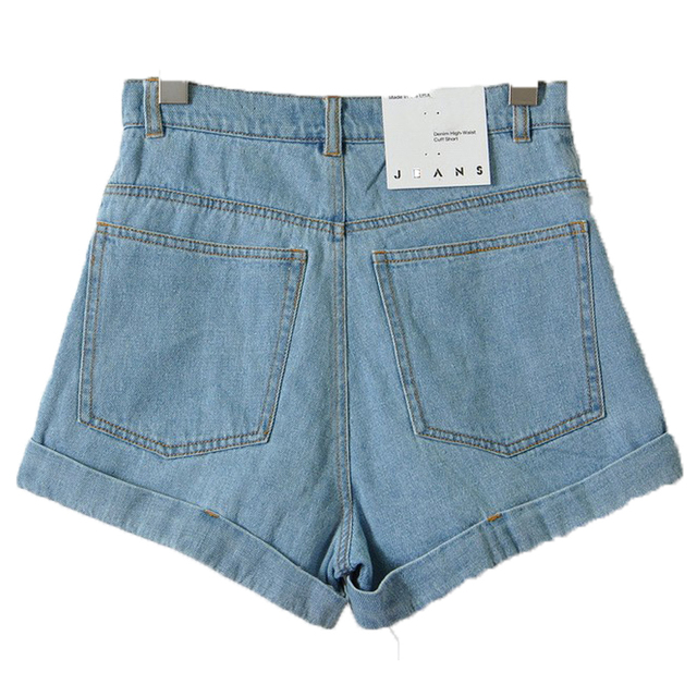 High Waist Denim Shorts for Women 2016 Brand Style Shorts Jeans Women Denim Shorts Feminino Slim Hip Plus Size  For 4 Seasons