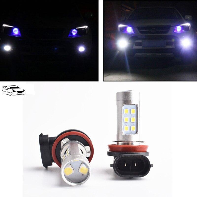 2x H8 H11 Fog Light High Power Canbus Error Free LED Car Auto Fog Lights Bulb Lamp For Skoda Superb Octavia A7 A 5 2 Fabia Rapid