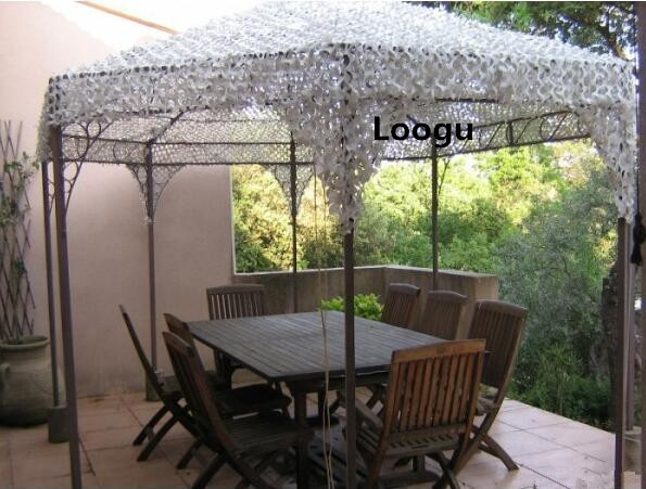 3m 3m white camouflage netting snow camo netting for outdoor pergolas beach shade window shade. Black Bedroom Furniture Sets. Home Design Ideas