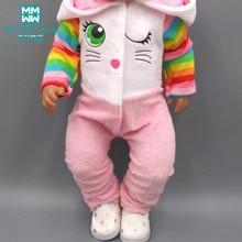 Dolls clothes for43cm toy born dolls accessories Cartoon cartoon piece crawling